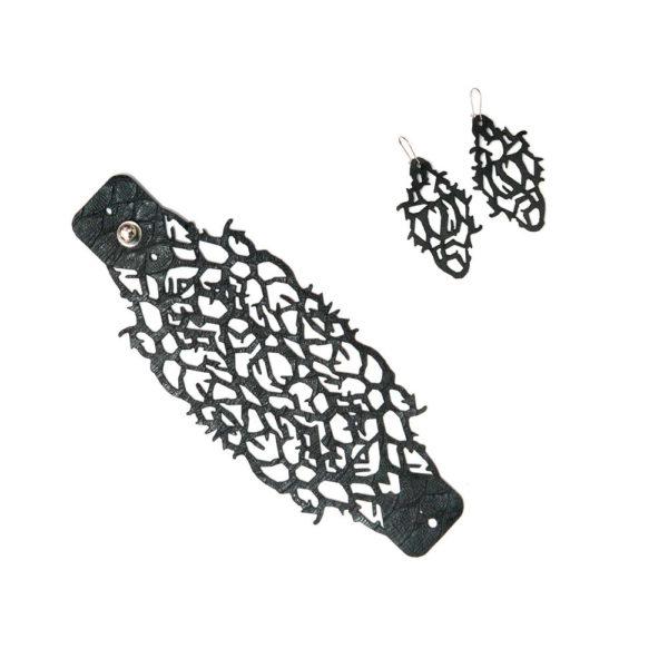 набор украшений браслет и серьги