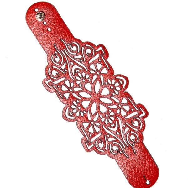 браслет узорный кожаный